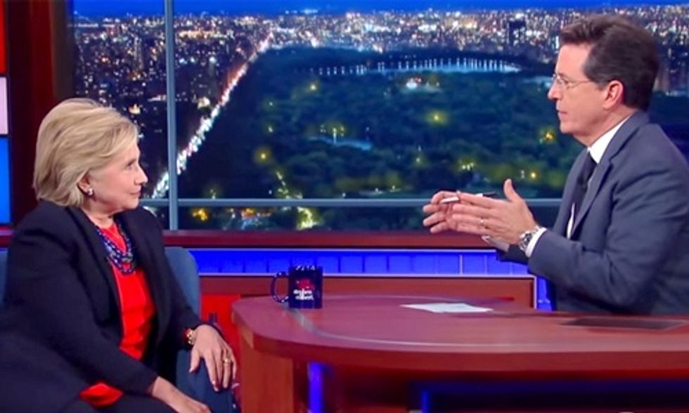 Hillary Clinton to Colbert: Yes, I Would Let the Big Banks Fail