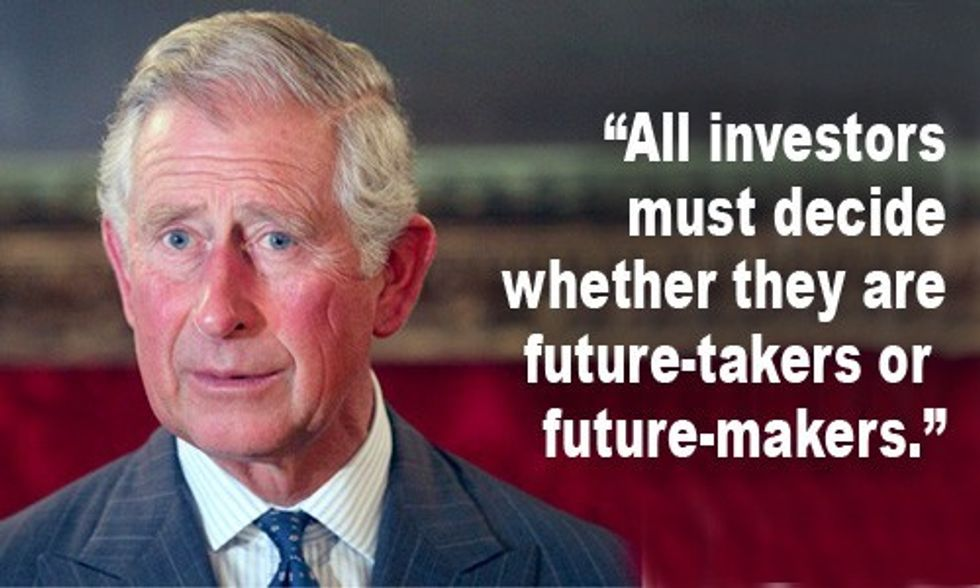Prince Charles Urges Investors to Divest From Fossil Fuels
