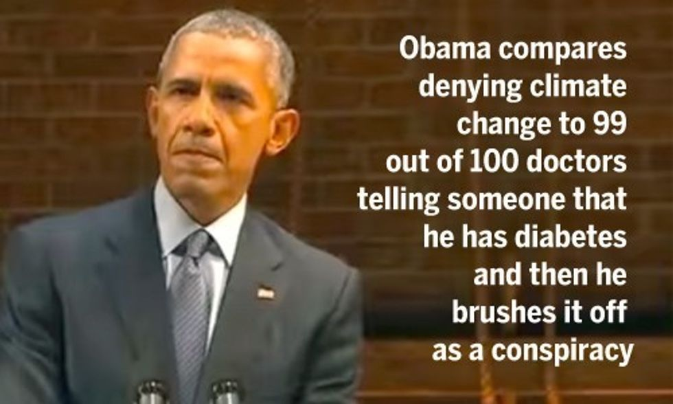 Obama Mocks GOP Presidential Candidates as Climate Deniers and Debate Whiners