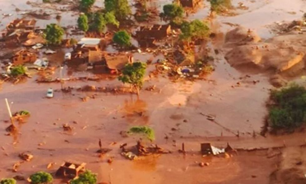 Two Dams Collapse at Brazilian Mine, Village Engulfed in 'Thick, Red Toxic Mud'