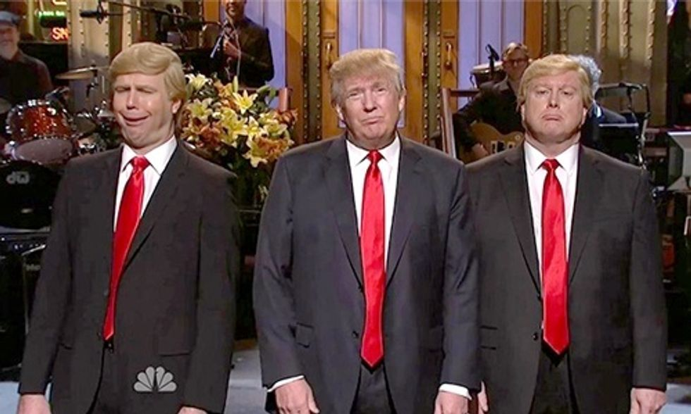 Live From New York, It's Donald Trump and ... Larry David