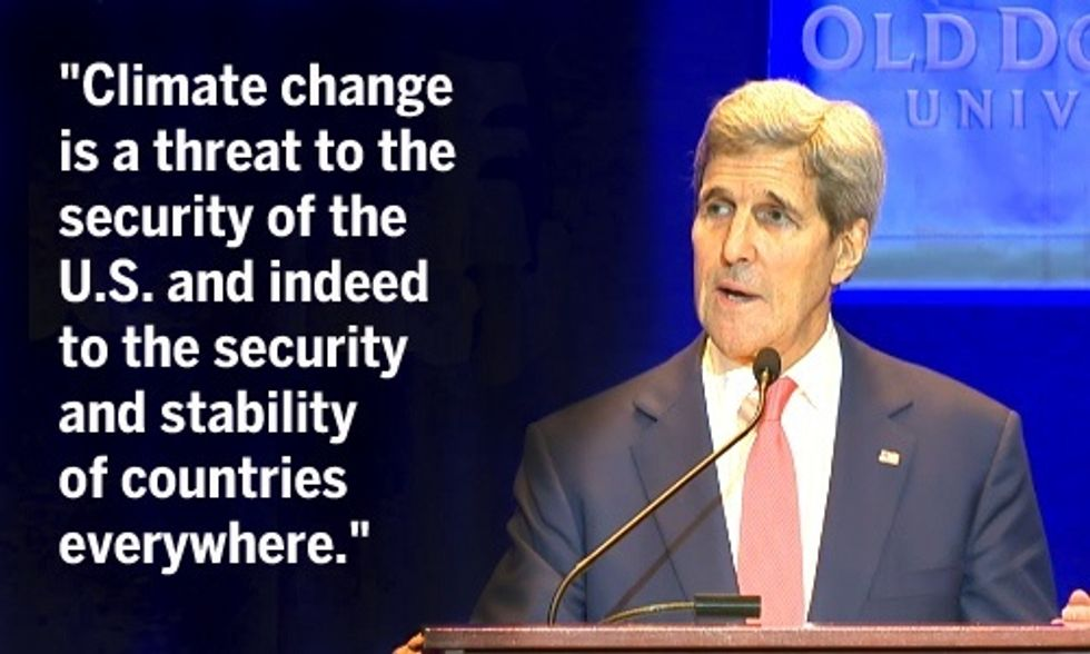John Kerry: 'Climate Change Is Not Just About Bambi,' It Threatens All of Humanity