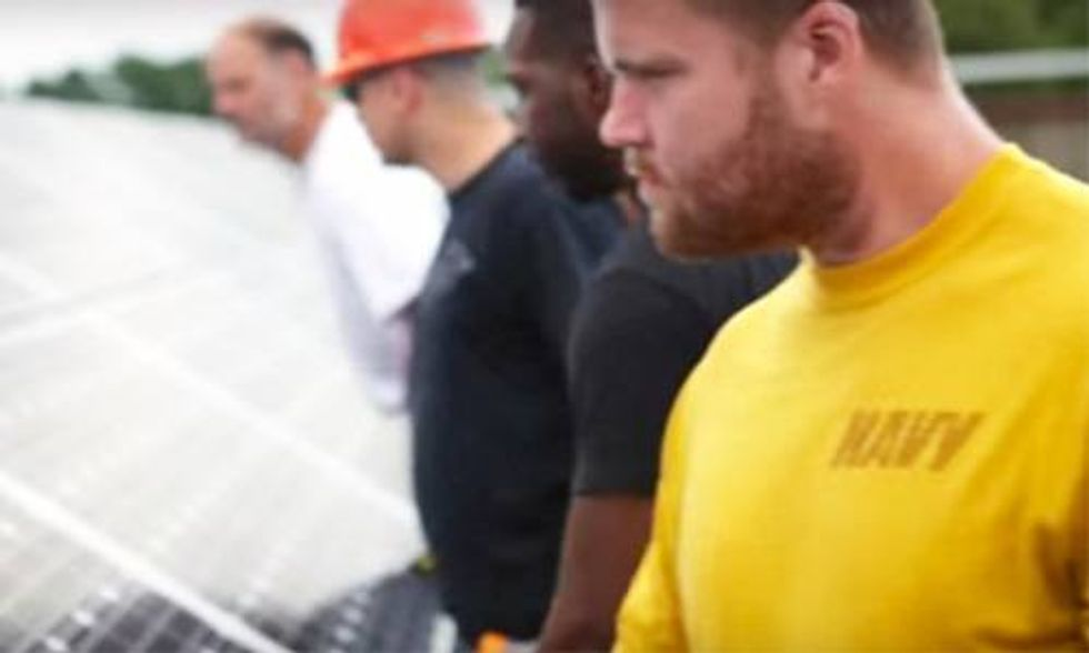 Solar Industry Commits to Employing 50,000 More Vets by 2020