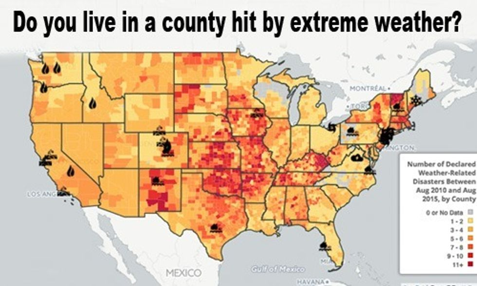 Interactive Map Shows 96% of Americans Live in Counties Hit by Extreme Weather