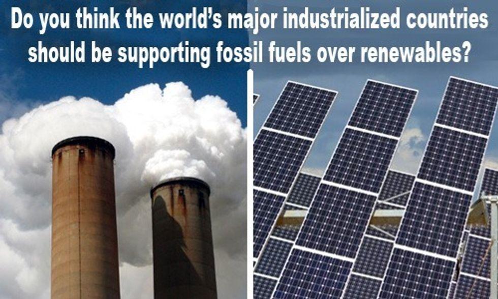 World's Biggest Economies Still Backing Fossil Fuels