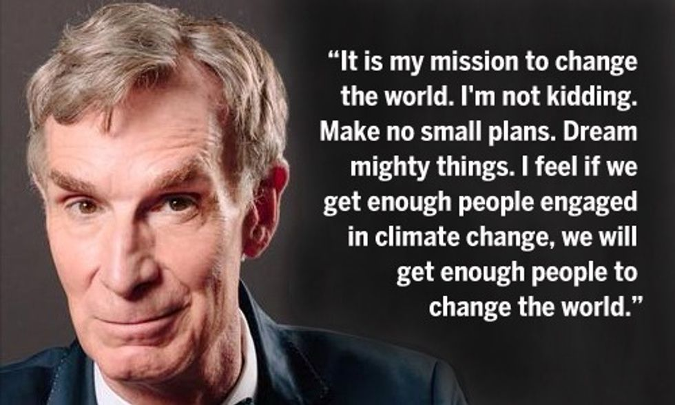 Bill Nye, While Driving a Tesla, Shares 5 Ways to #BeUnstoppable