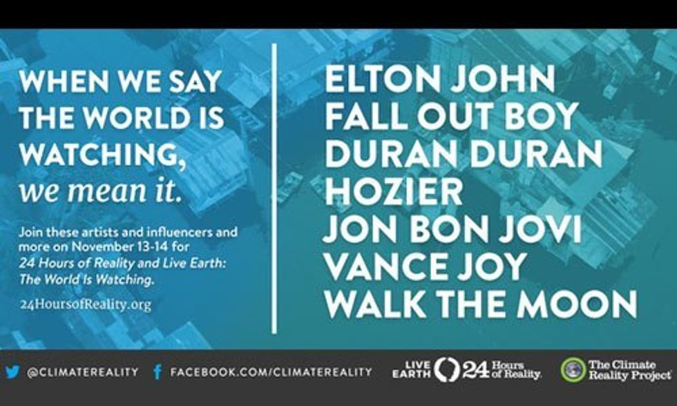 Elton John, Mumford & Sons + Many More Join Al Gore for 24 Hours of Reality