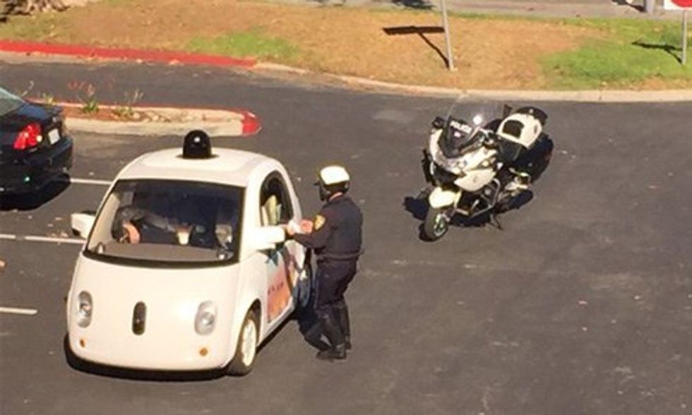 Google Self-Driving Car Gets Pulled Over, Cop Finds No Driver to Ticket