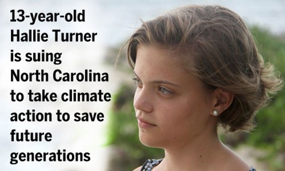 13-Year-Old Sues North Carolina, Asks Judge to Force State to Take Action on Climate Change