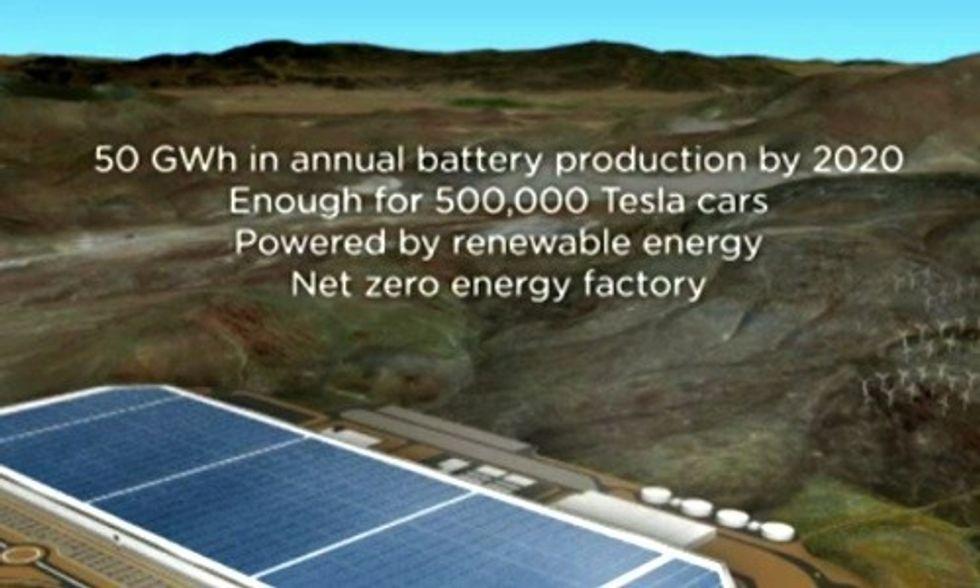 Tesla's Massive Gigafactory Will Be Net Zero Energy, Powered by 100% Renewables