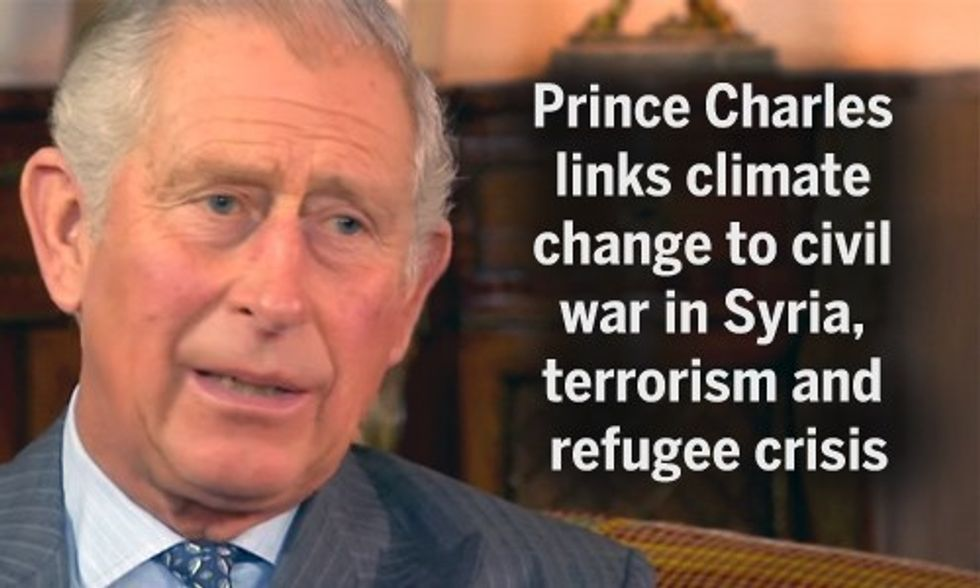 Prince Charles: Climate Change Root Cause of Syrian War