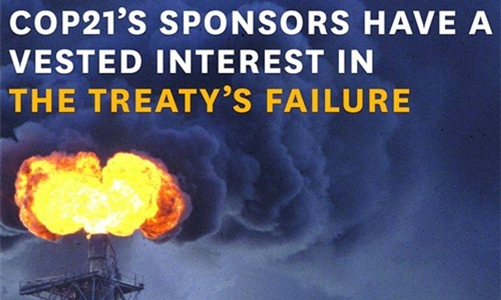 'Filthy' Corporate Sponsors Bankrolling COP21 Exposed in New Report