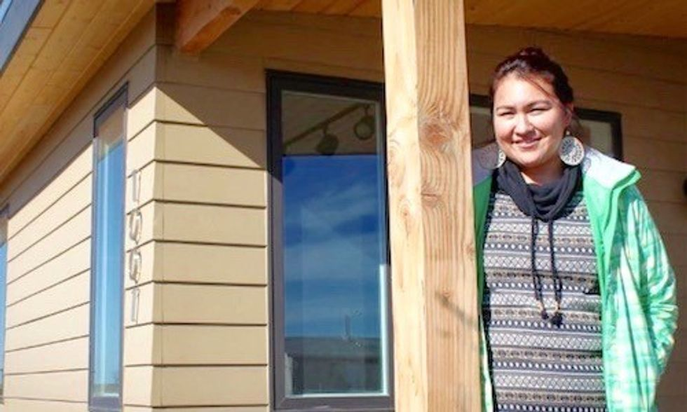 Brad Pitt's Nonprofit Delivers LEED Platinum Homes to Fort Peck Reservation