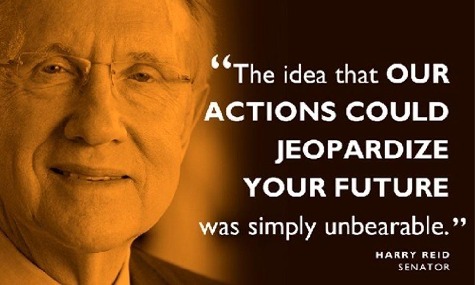U.S. Sen. Harry Reid's Letter to the Future: 'You Deserve a Chance'