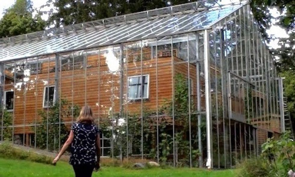 Couple Builds Greenhouse Around Home to Grow Food and Keep Warm