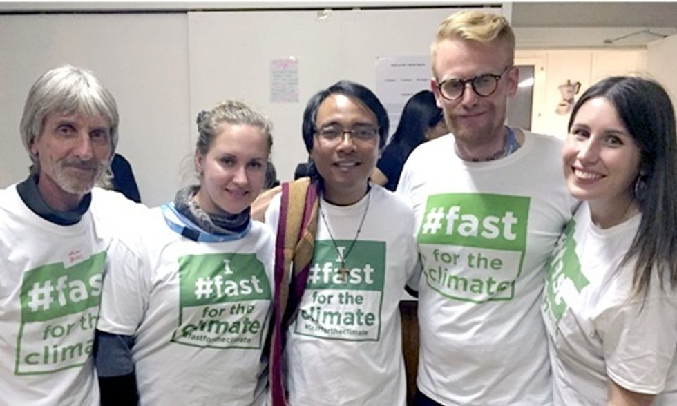 Yeb Saño and the Fast for the Climate Movement at COP21