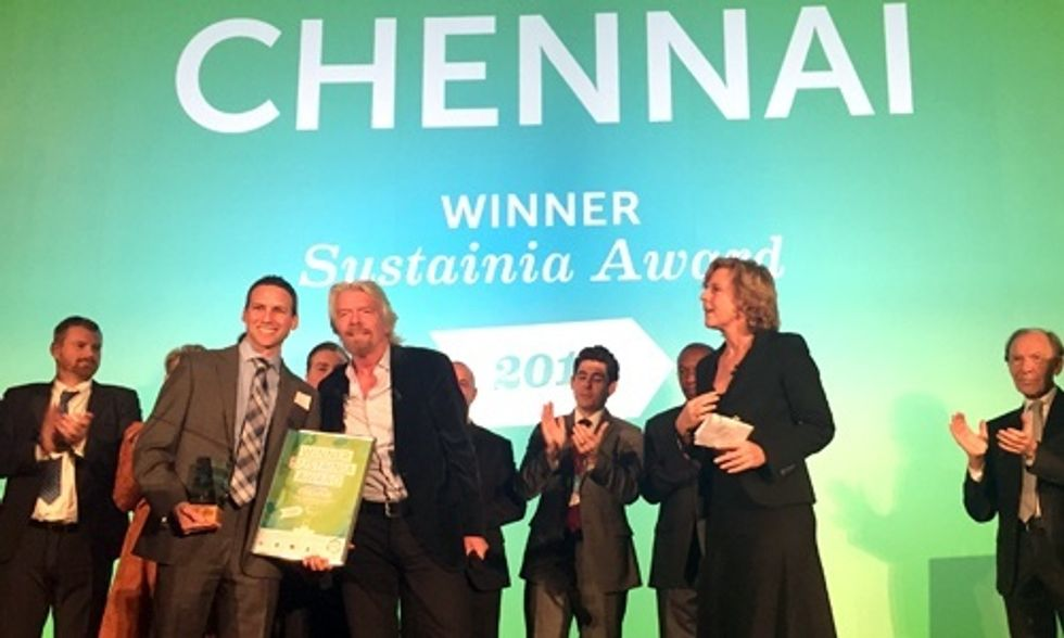 Richard Branson Presents Sustainia Award for World's Most Innovative City Solution