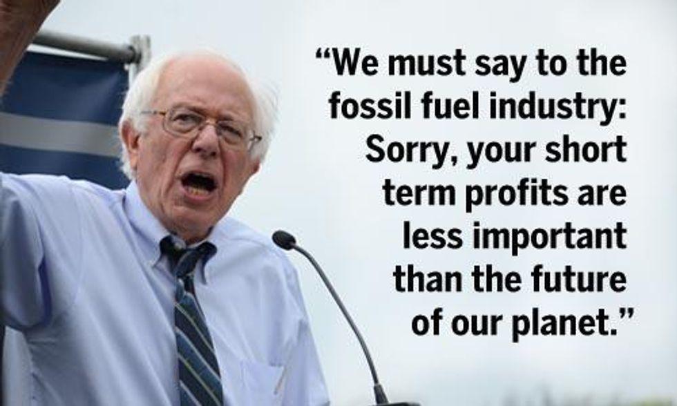 Bernie Sanders Unveils 'People Before Polluters' Climate Plan