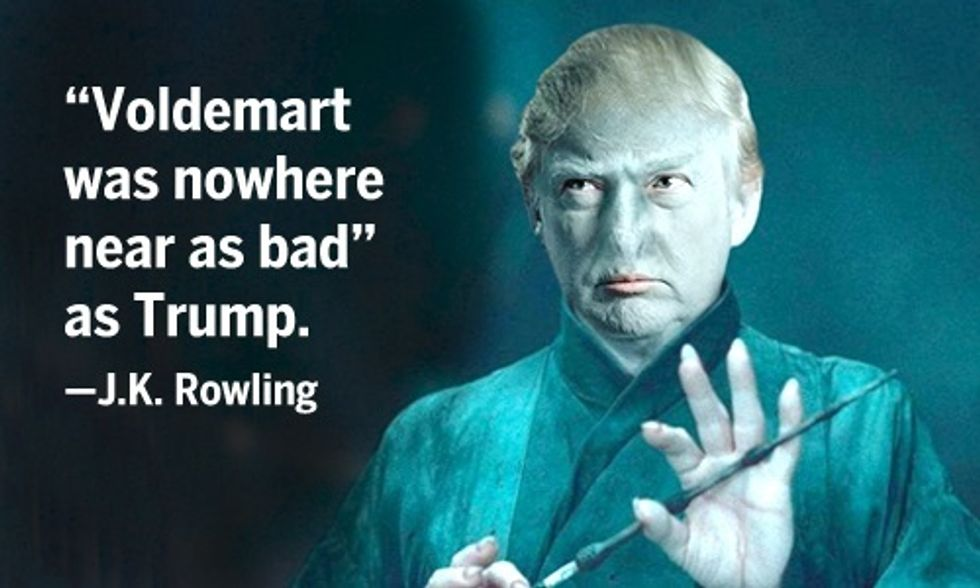 J.K. Rowling Says Trump Worse Than Voldemort, Sen. Graham Says Trump Should 'Go to Hell'