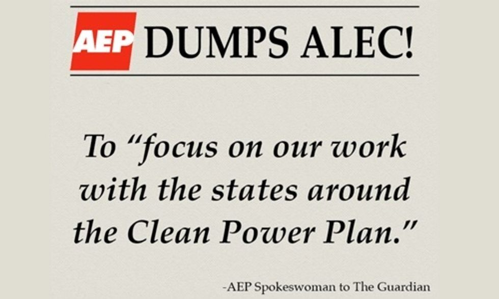 AEP Dumps ALEC to Help States Implement Clean Power Plan, Expedite Renewable Energy