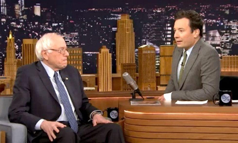 Bernie Slams Trump on The Tonight Show With Jimmy Fallon