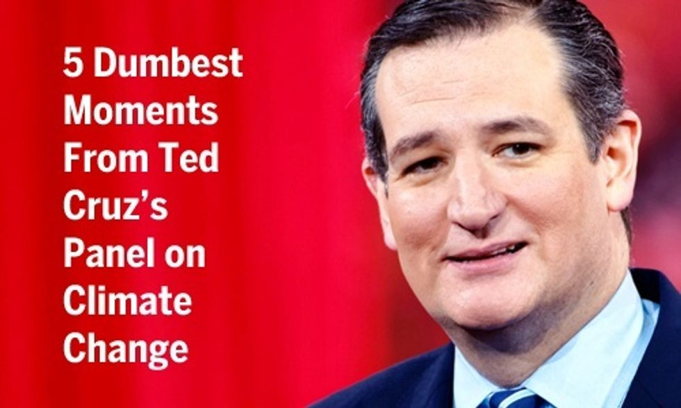 Ted Cruz Offers Al Gore Some 'Inconvenient Truths' in Most Outrageous Climate Denier Stunt Yet