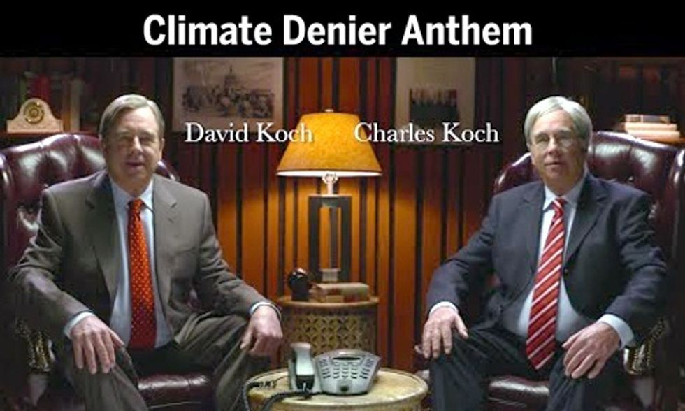 'Koch Brothers' Pay Celebrities to Sing Climate Change Denier Anthem