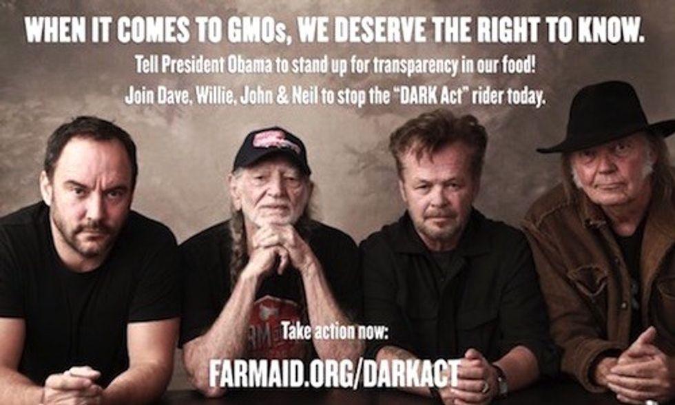 Neil Young, Willie Nelson, Dave Matthews, John Mellencamp: Help Us Stop the DARK Act