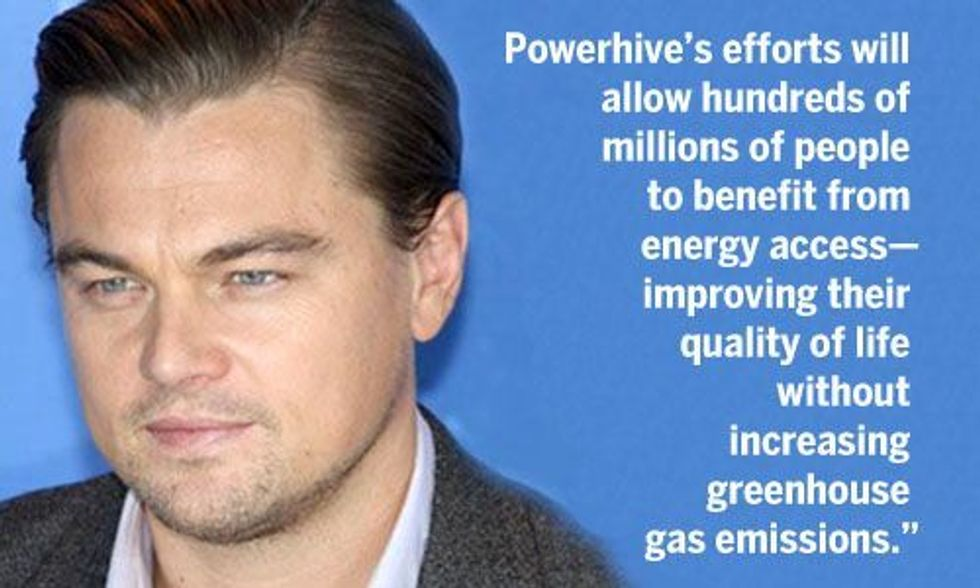 Leonardo DiCaprio and Greg Barker Join Forces to Bring Solar to Off-Grid Communities