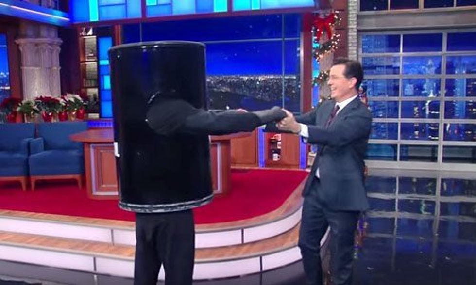 Watch Colbert Say Goodbye to Fossil Fuels