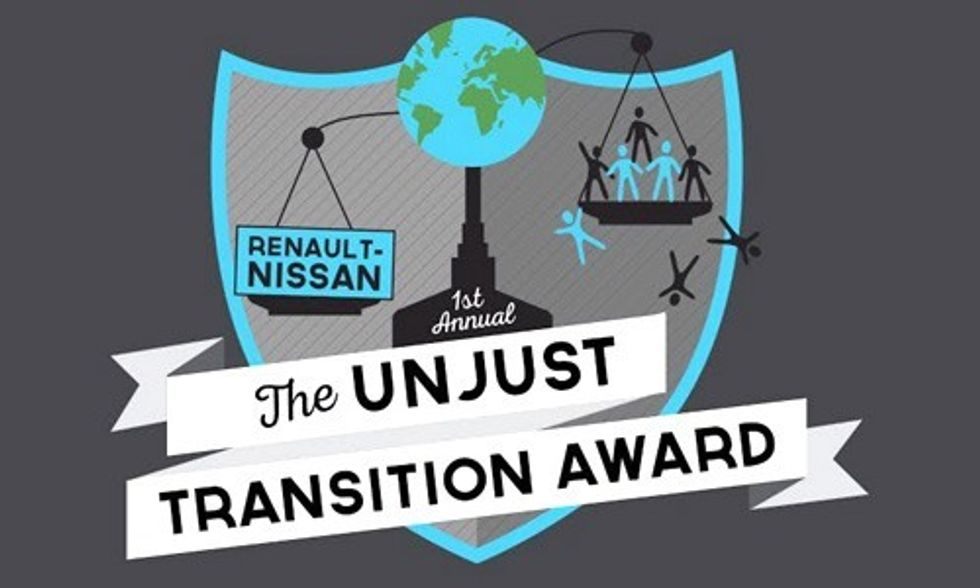 And the Unjust Transition Award Goes to ...