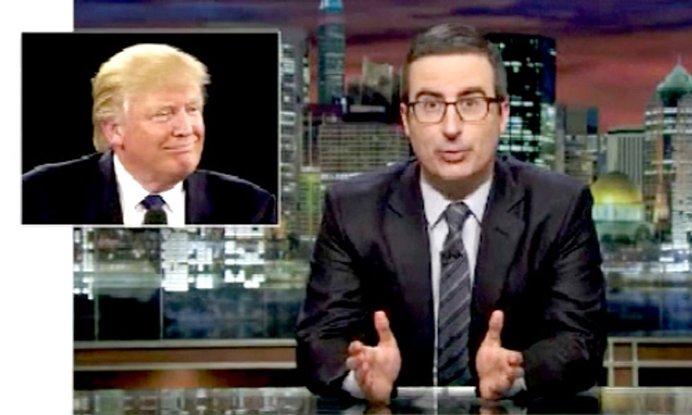 John Oliver Slams Donald Trump for Unfathomable Comments on Nuclear Weapons