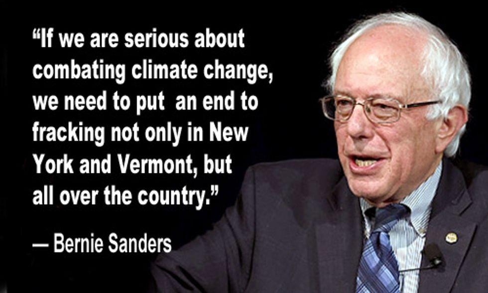Bernie Sanders Calls for Nationwide Ban on Fracking