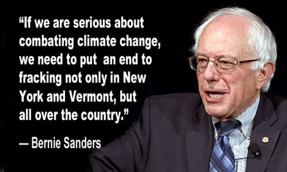 Bernie Sanders Calls for Nationwide Ban on Fracking