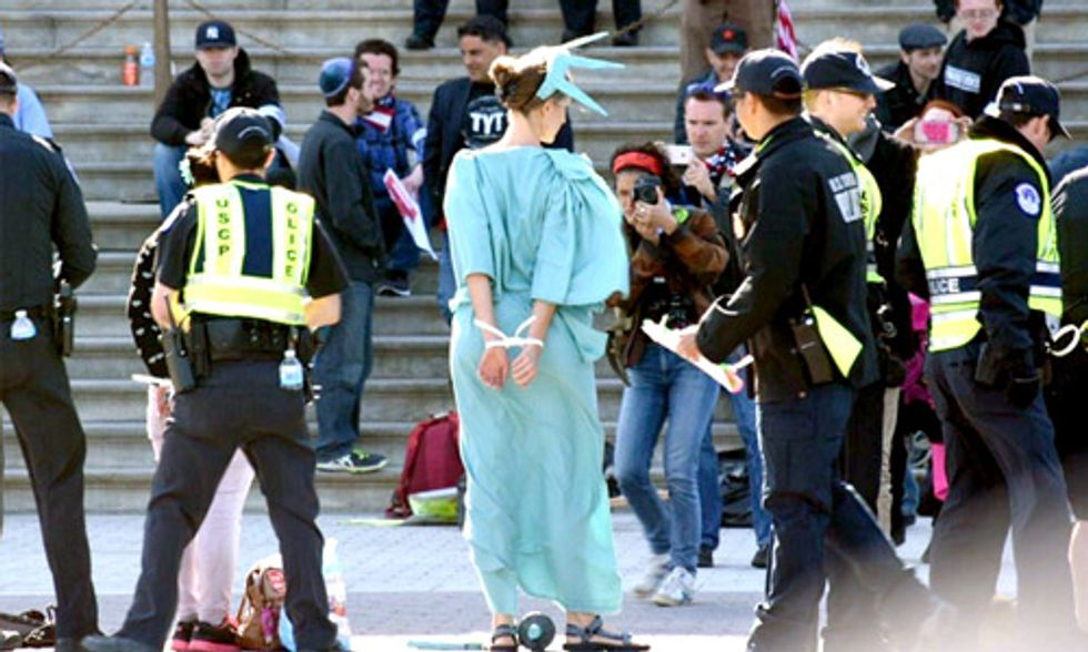 400 Arrested on Capitol Steps Protesting Big Money in Politics
