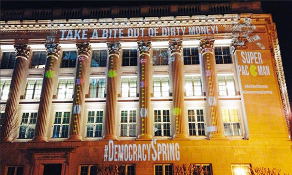 Democracy Spring Takes a Bite Out of Dirty Money