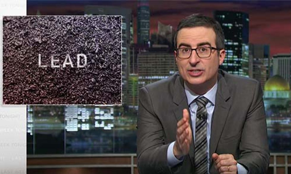 John Oliver Blasts GOPs for Failure to Address America's Lead Crisis