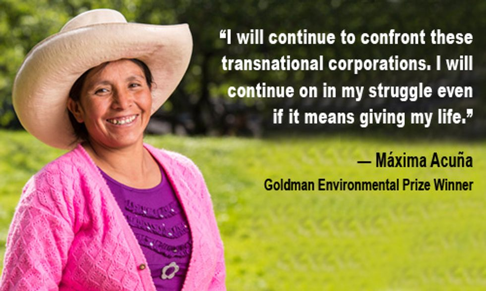 Goldman Prize for a Gold Mining Opponent