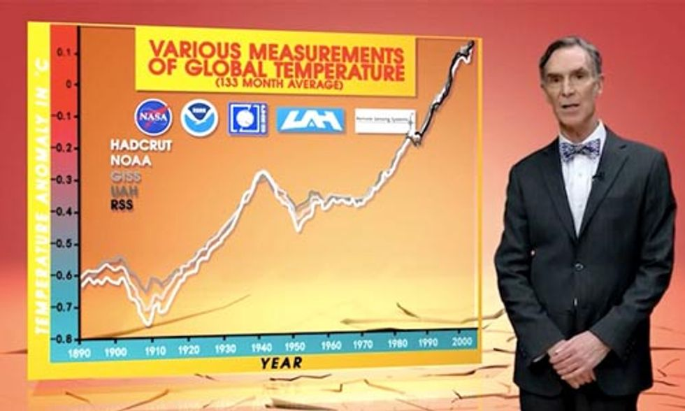 Watch Bill Nye Put His Climate Money Where His Mouth Is