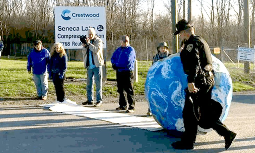 12 Arrested in Earth Day-Themed Protest Against Gas Storage in Seneca Lake's Salt Caverns