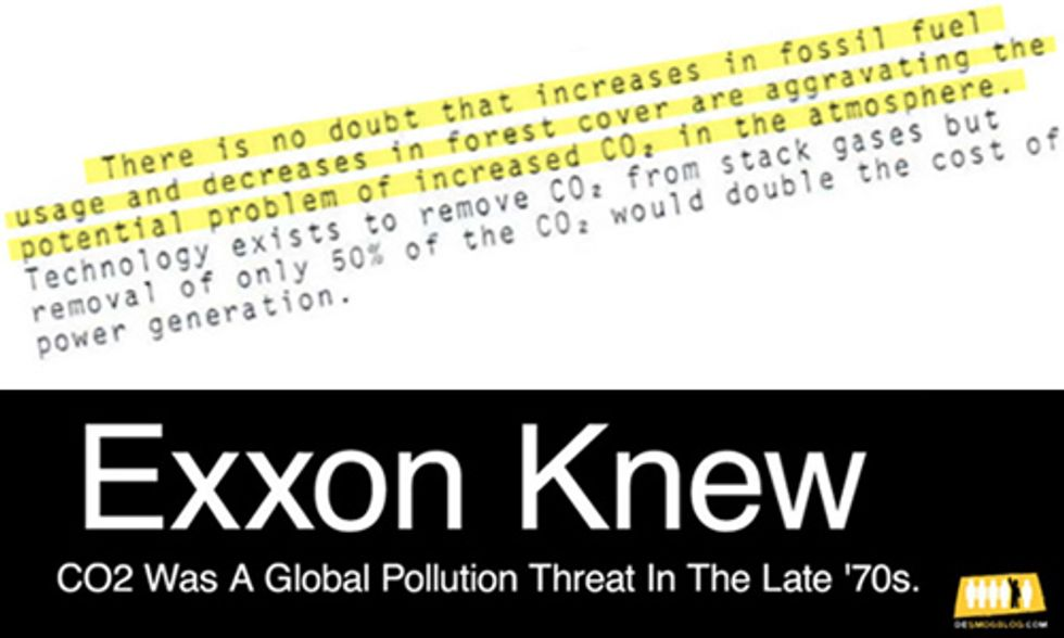 New Uncovered Corporate Documents Show #ExxonKnew Much Earlier Than Previously Reported