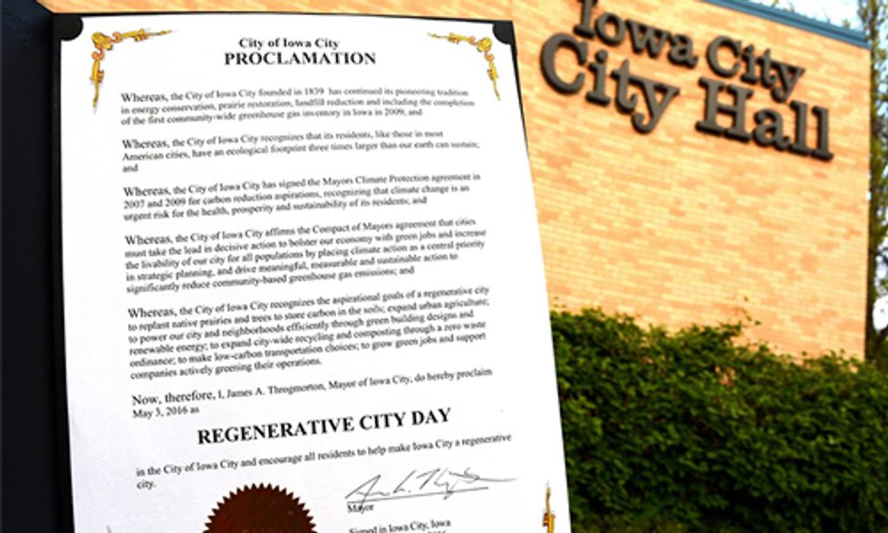 Breakthrough Proclamation Puts Iowa City on the Forefront of Climate Action