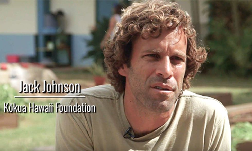 Jack Johnson Helps Connect Children to Their Land, Water and Food