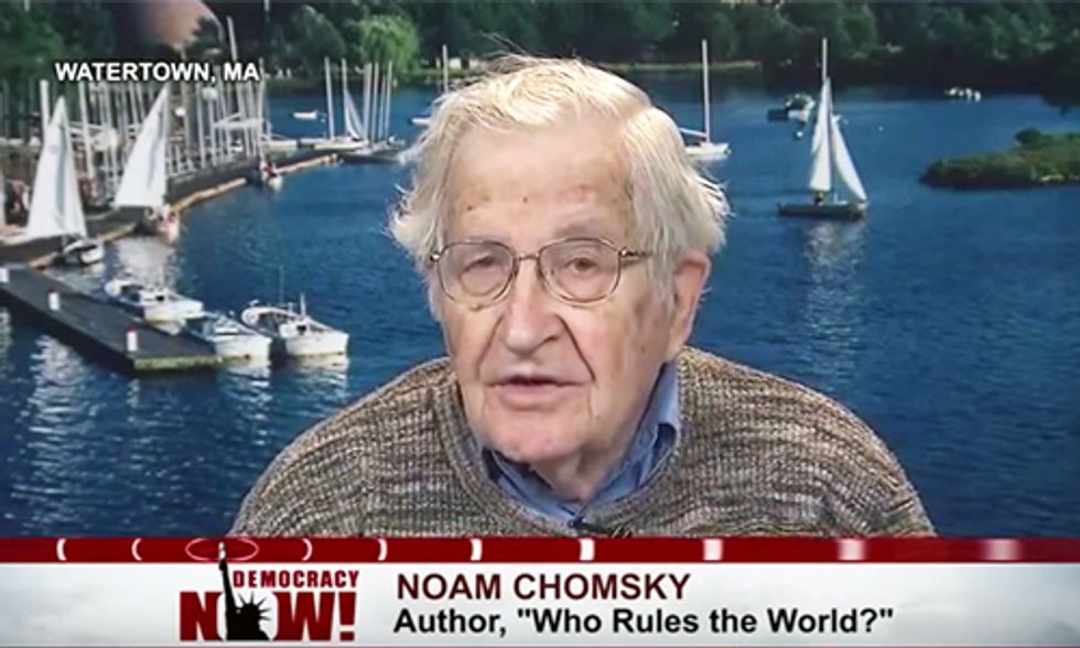 Noam Chomsky: Climate Change and Nuclear Proliferation Pose Worst Threat Ever Faced by Humans