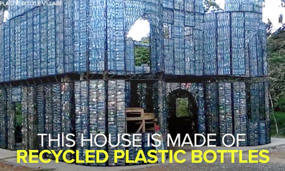 This Eco-Village Is Being Built From More Than 1 Million Recycled Plastic Bottles