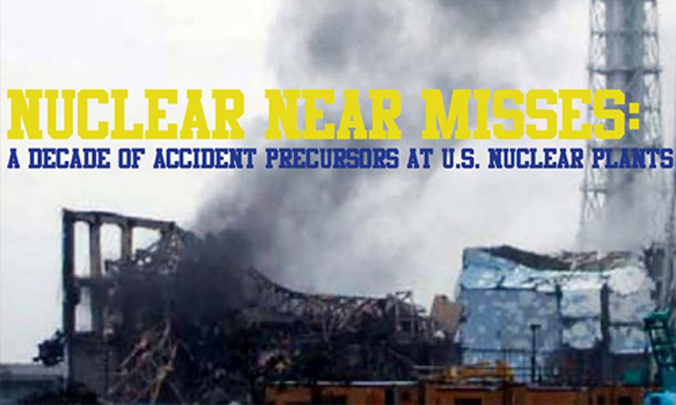 10 Near Misses at U.S. Nuclear Power Plants Considered Precursors to a Meltdown
