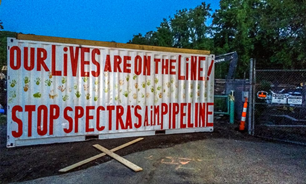 Protesters Blockade Planned Pipeline Site Near Nuclear Plant Outside NYC