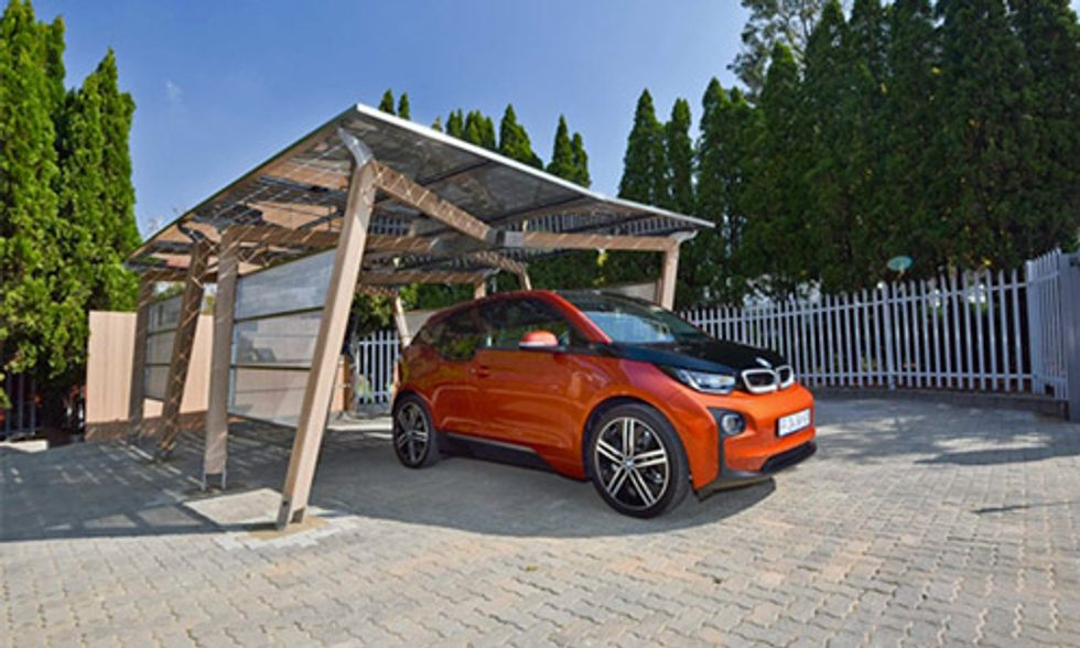 BMW South Africa Unveils Solar Carport to Charge Electric Vehicles