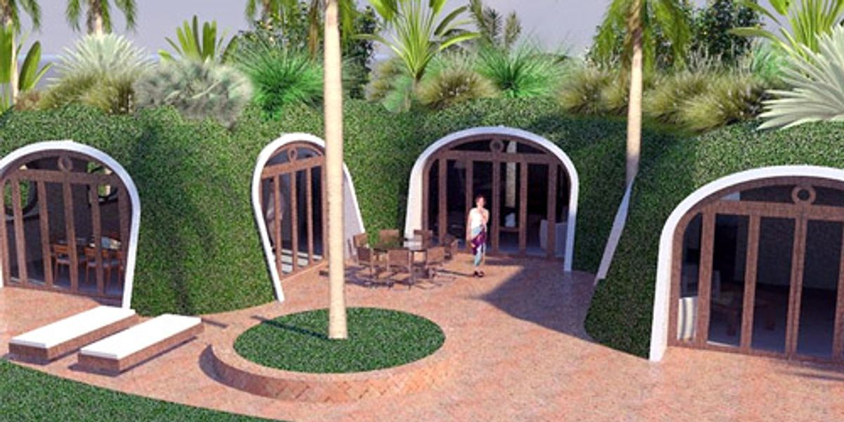 This Green Roofed Hobbit Home Can Be Built In Just 3 Days Ecowatch