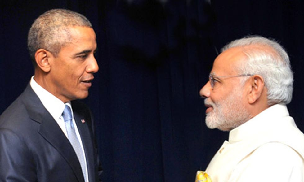 India's Prime Minister Modi Joins Obama in Redoubling Pledge to Act on Climate Change
